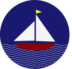 298x288 Sail Boat With Waves Clip Art