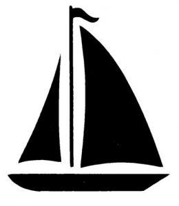 260x300 Vibrant Design Sailboat Clip Art Simple Silhouette Google Search