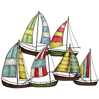 350x350 Deco 79 Metal Sailing Boat Decor A Perfect Nautical