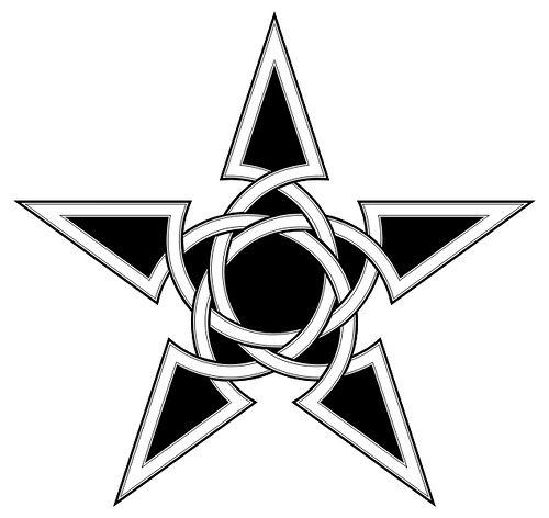 500x472 Black Celtic Nautical Star Tattoo Stencil Anchor Stencil