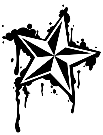 357x471 Dripping Nautical Star By Lintastic