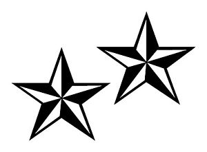 300x221 Two Nautical Star Decals Sticker Pair Truck Suv Boat Punk Rock