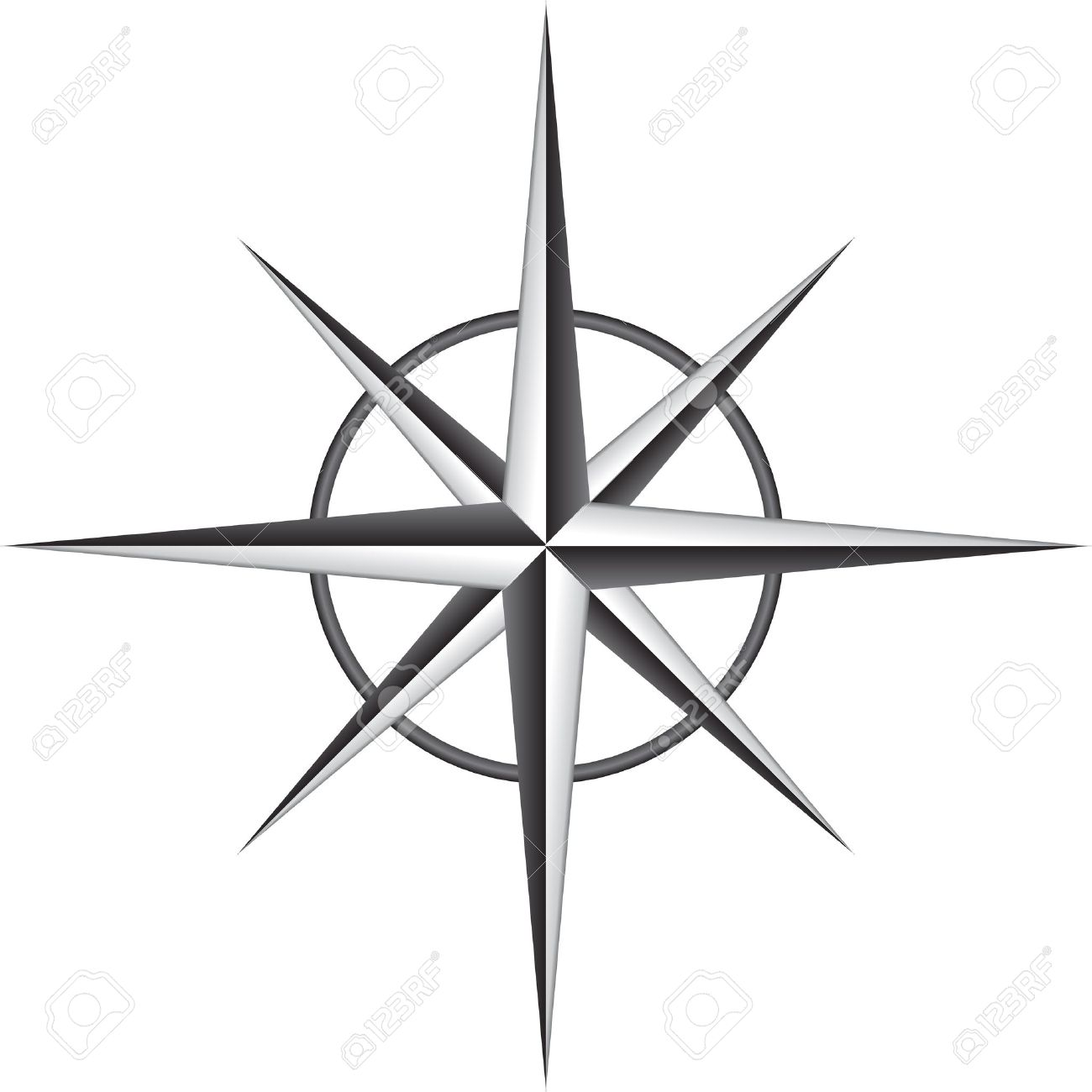 1300x1300 Illustration Of Compass Rose Stencil Projects