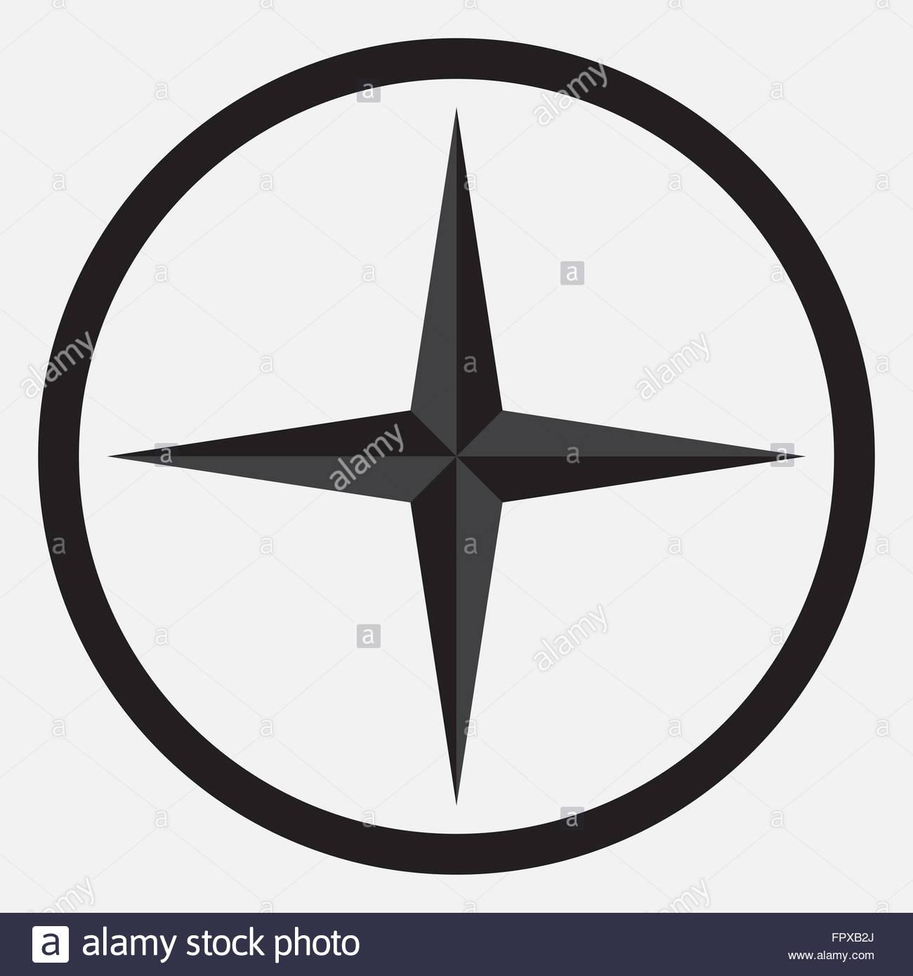 1300x1390 Compass Star Icon Monochrome Black White. Compass And Star