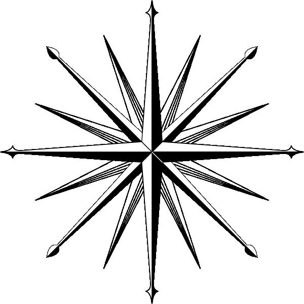 600x600 Compass Outline Wind Rose Compass Rose Clip Art Compass