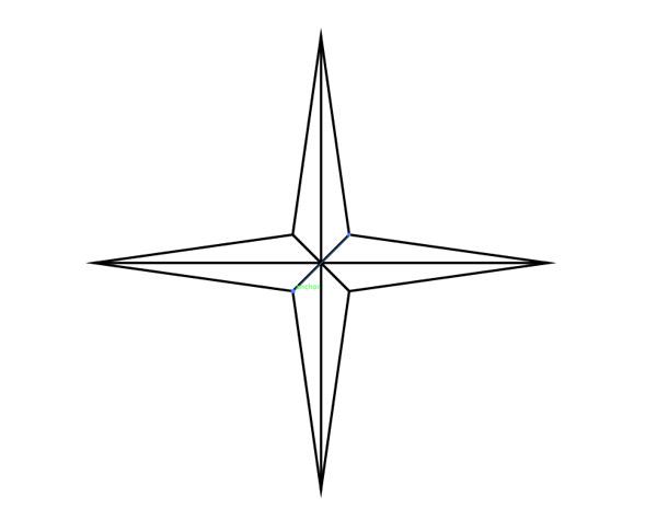 600x485 Drawn Compass Nautical Star
