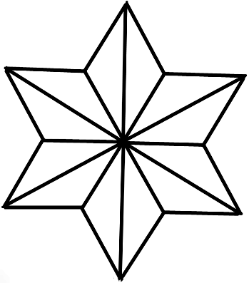 349x397 How To Draw 6 Sided Nautical Stars With Easy Step By Step Drawing