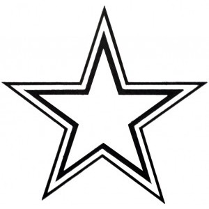 300x300 Star Outline Images Perfect Star Outlines Clipart