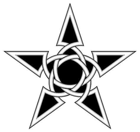474x447 Black Celtic Nautical Star Tattoo Stencil Anchor Stencil