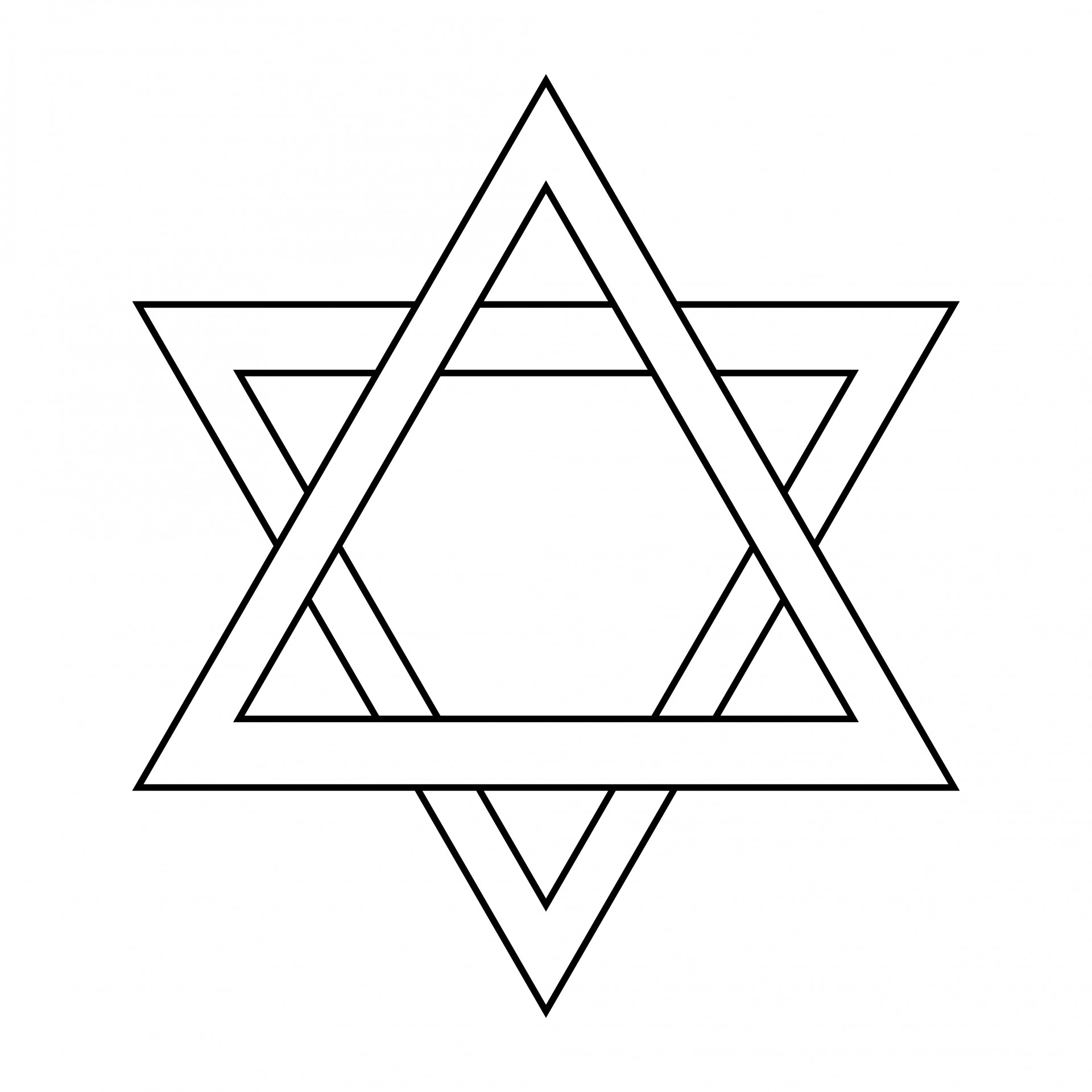 1920x1920 Star Outline Star Of David Outline Free Pictures