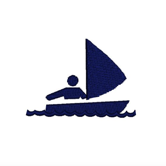 Navy Blue Sailboat