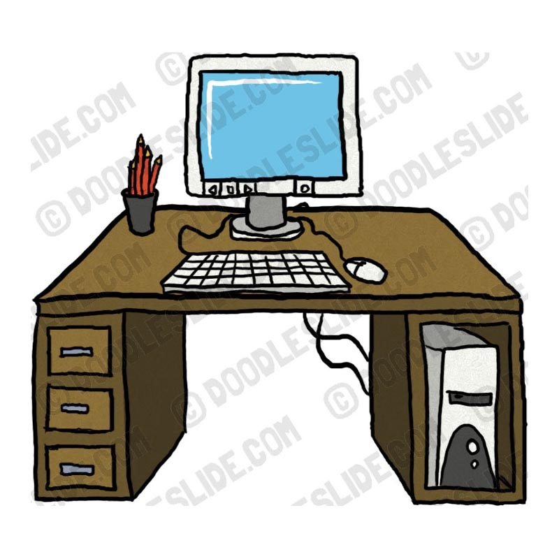 800x800 Desk Clipart Neat Desk