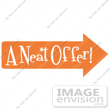 450x450 Royalty Free Cartoon Clip Art Of A Vintage Sign Showing An Orange