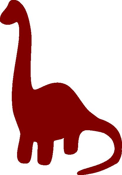 414x594 Long Necked Dinosaur Silhouette Clip Art