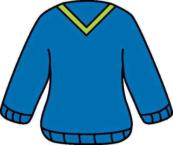 581x488 V Neck Sweater Clip Art