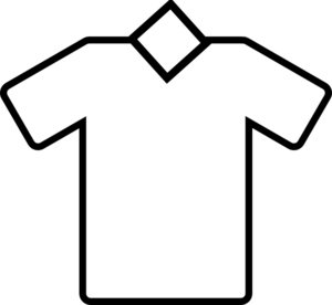 300x276 White Tshirt Vneck Clip Art