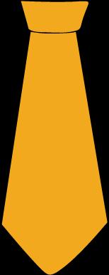 154x386 Yellow clipart necktie