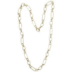 240x240 Denise Roberge Edgy Gold Paper Clip Toggle Necklace For Sale