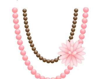340x270 Pearl Necklace Clipart