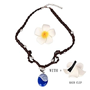300x300 Moana Necklace Hair Flower Clip And Necklace Set