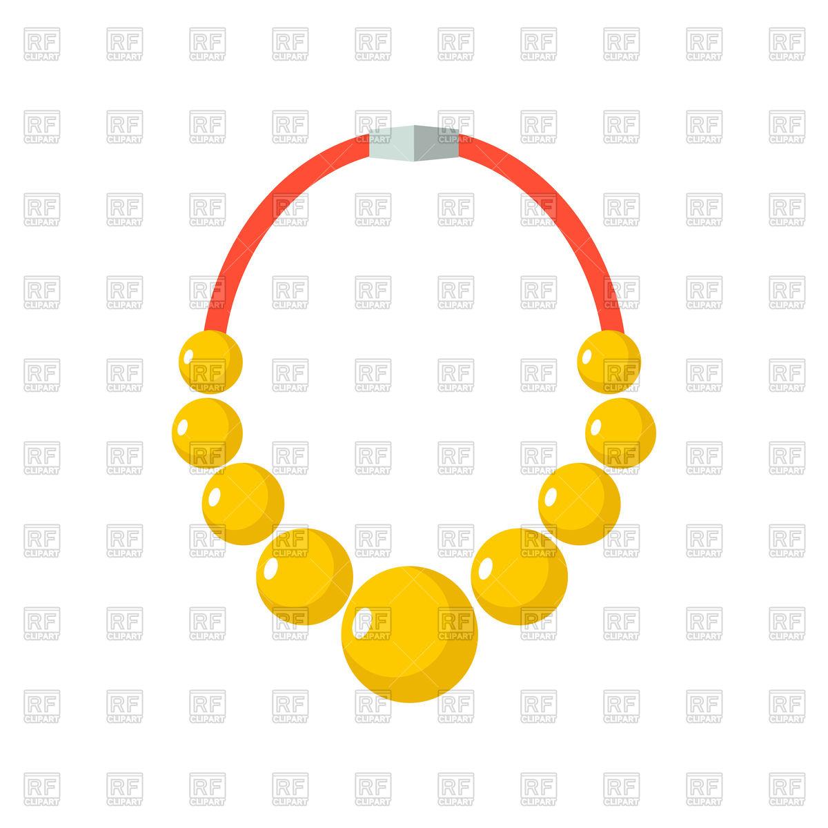 1200x1200 Golden Necklace Royalty Free Vector Clip Art Image