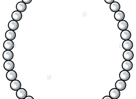 440x320 Necklace Clipart Clip Art Cartoon Pearl Necklace Search