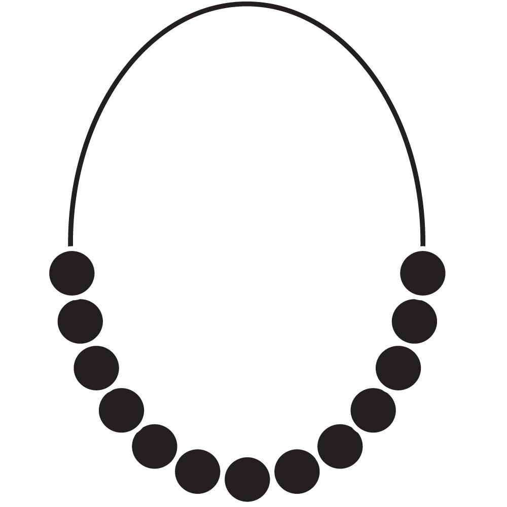 1000x1000 Necklace Clipart Outline