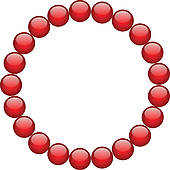 170x170 Royalty Free Bead Necklace Clip Art
