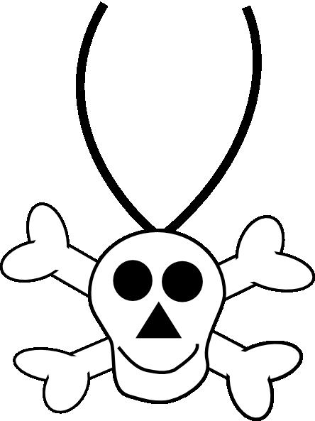 444x593 Skull Necklace Clip Art