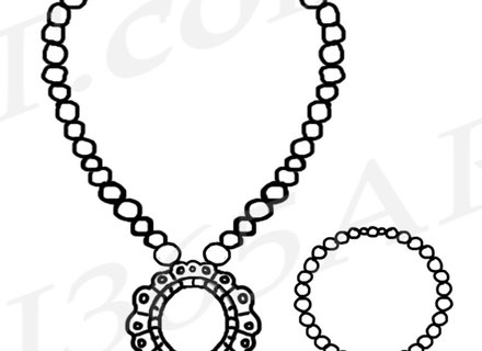 440x320 Pearl Necklace Clipart