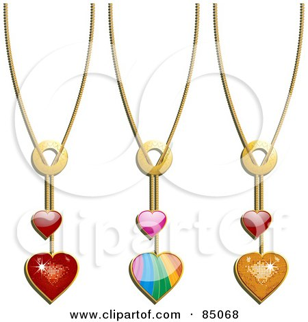 450x470 Pendent Clipart Heart Necklace
