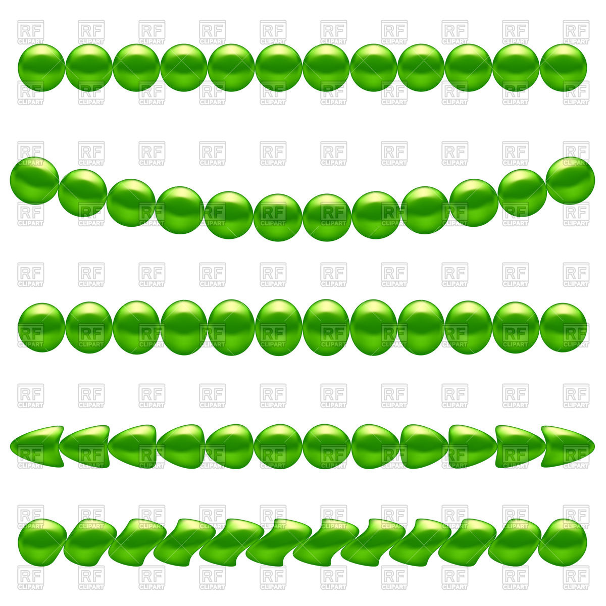 1200x1200 Shiny Green Pearl Necklaces Royalty Free Vector Clip Art Image