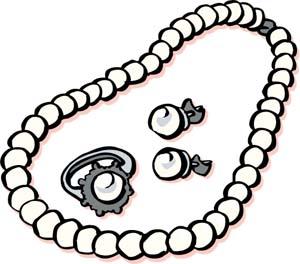 300x264 Cartoon Necklaces Clipart