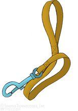 154x220 Clip Art Leash (Coloring Page)