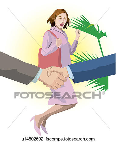 387x470 Clip Art Of Businesswoman Being Pleased