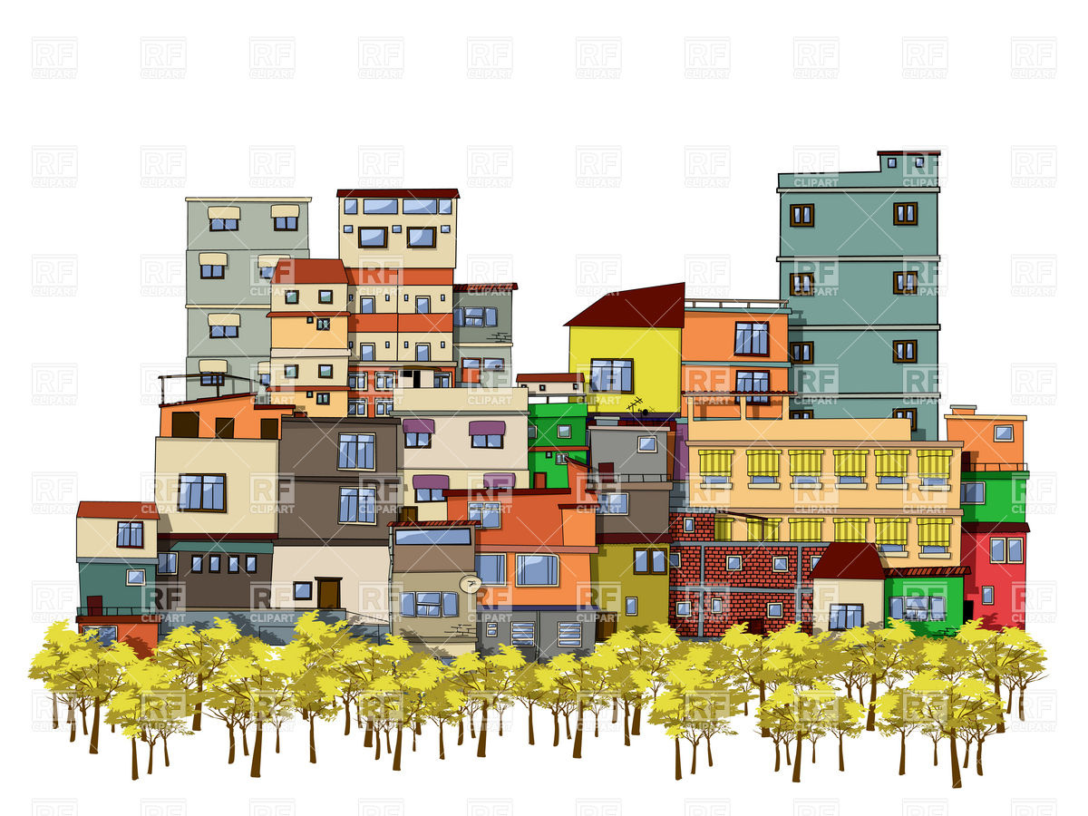 1200x900 Urban Cityscape With Trees And Houses