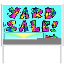 Neighborhood Yard Sale Signs