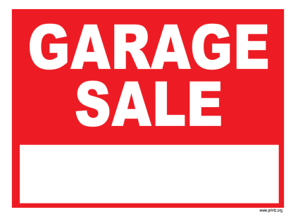 423x311 Garage Sale Signs Garage Sale 2016 Valo