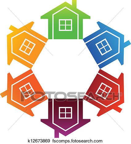 425x470 Clip Art Of Housing Market K12673869