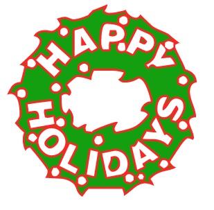 309x303 Happy Holidays Clip Art Free 4
