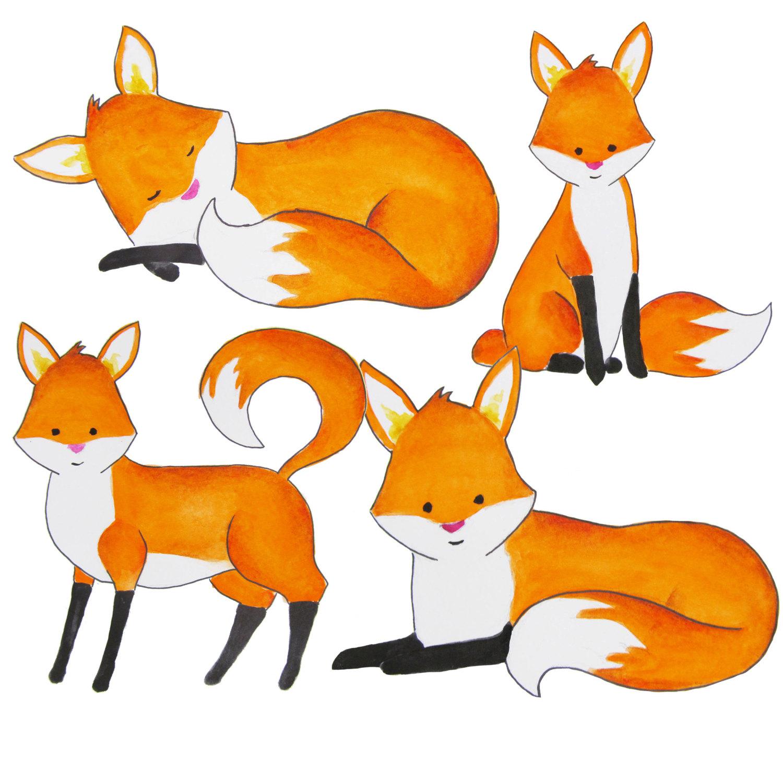1500x1500 Watercolor Fox Clipart Foxes Clipart Red Fox Clip Art