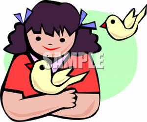 300x249 Girl Clipart Bird