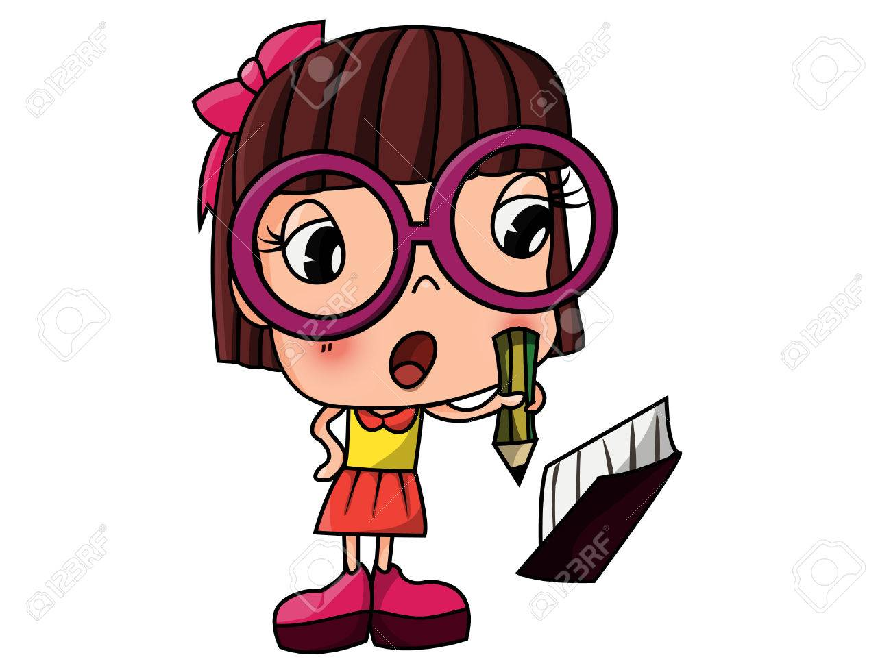 1300x975 Nerd Girl Love Studying And Reading Royalty Free Cliparts, Vectors