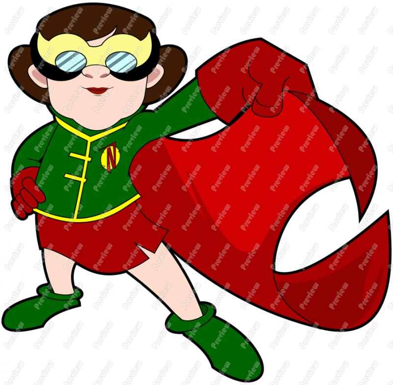 800x783 Nerd Superhero Girl Up Clip Art
