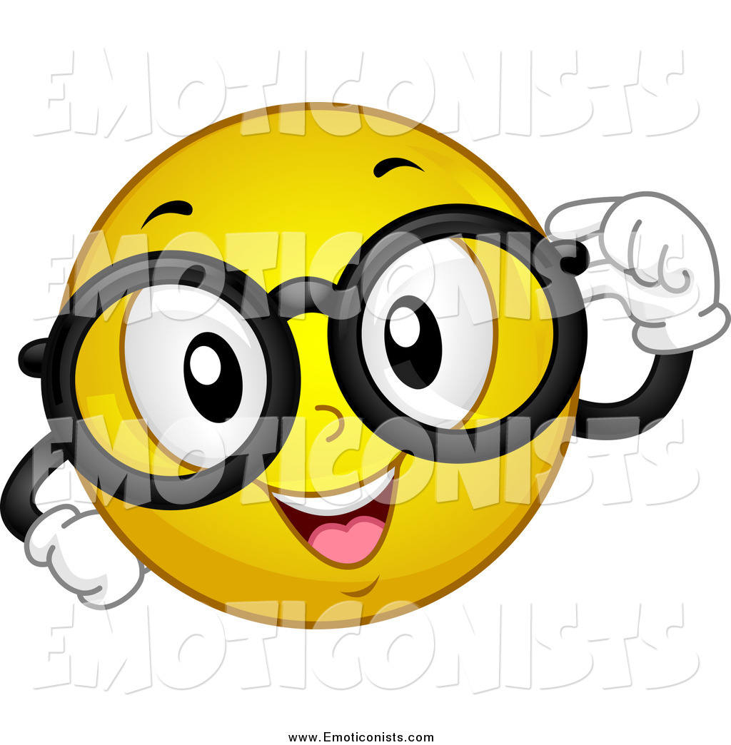 1024x1044 Clip Art Of A Nerdy Yellow Emoticon With Glasses By Bnp Design