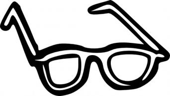 342x195 Nerd Glasses Funky Glasses Clipart