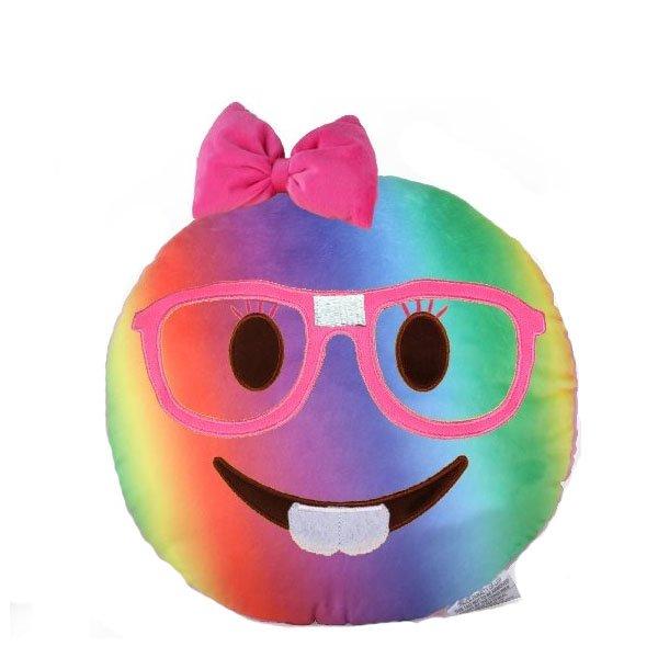 600x600 Tie Dye Nerd Girl Smiley Emoji Pillow Smiley Emoji, Paper Store