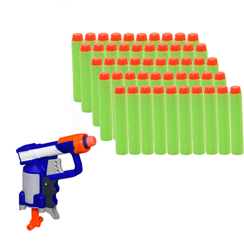 800x800 M89C50Pcs Toy Gun Refill Green Bullet Darts For Nerf N strike