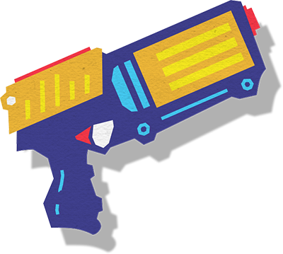 400x359 Nerf Gun Clip Art Inderecami Drawing