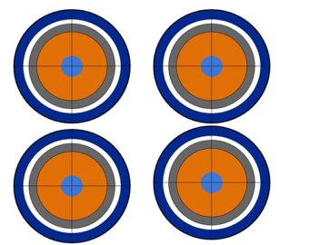 340x270 Nerf Gun Target Cupcake Topper Nerf war, 12 cupcakes and